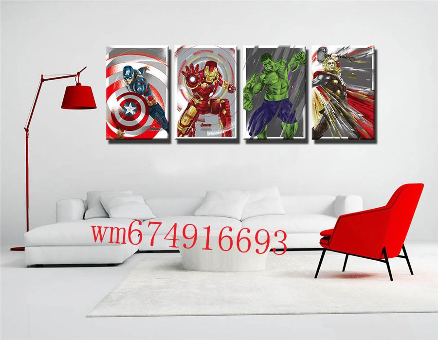 2018 The Avengers 5 , Home Decor HD Printed Modern Art Painting On ...