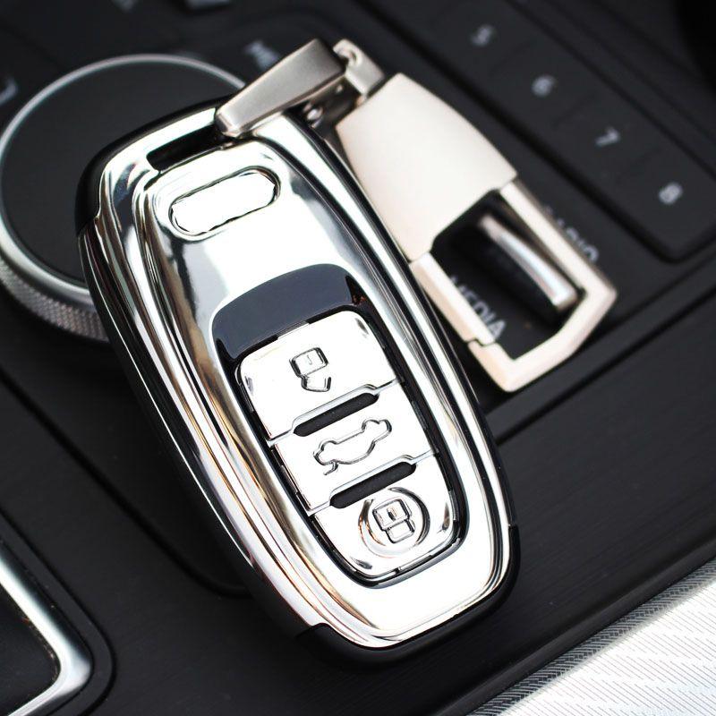 Audi Abs Car Key Shell Holder Case Cover Keyring Key Buckle For Audi - Audi car key