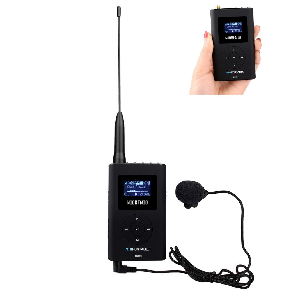 NIORFNIO T-600 0 6W FM Transmitter MP3 Broadcast Radio Transmitter for Car  Meeting Tour Guide System Y4409B