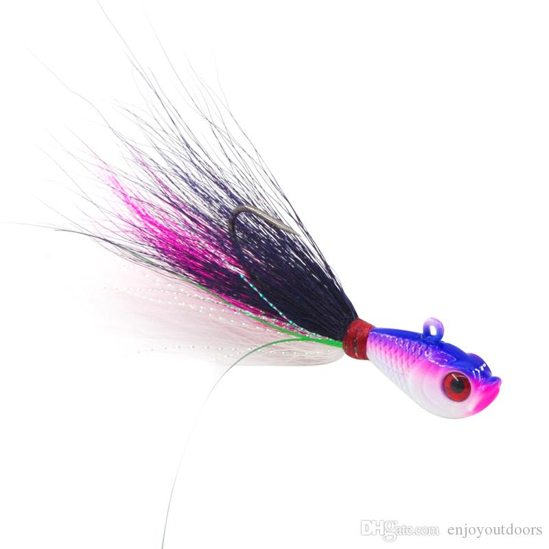 Wholesale-Fishing accessories Mixed Colors Artificial Fishing Bait With Feather Fishing Tackle Hard Lure Fishing Hook
