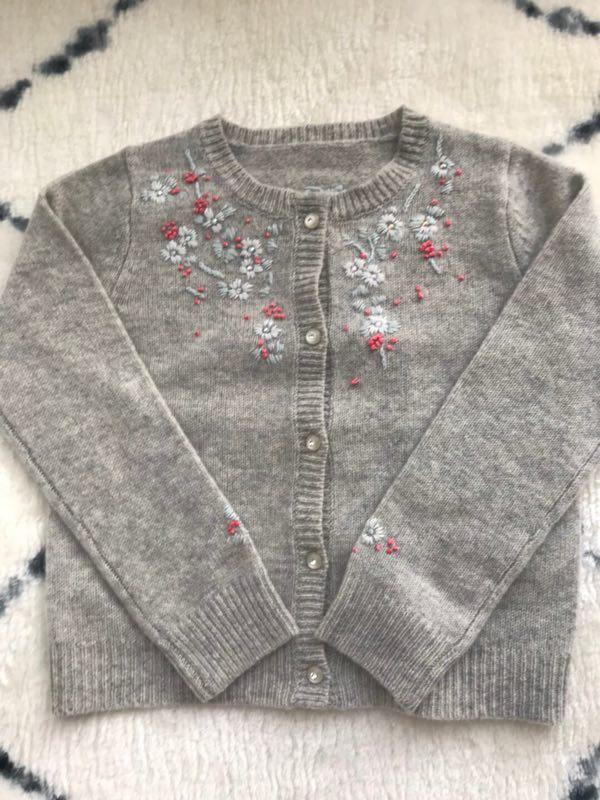 cba7ae411 Baby Wool Cardigans Embroidered Floral Pattern Wool Knitting Baby ...