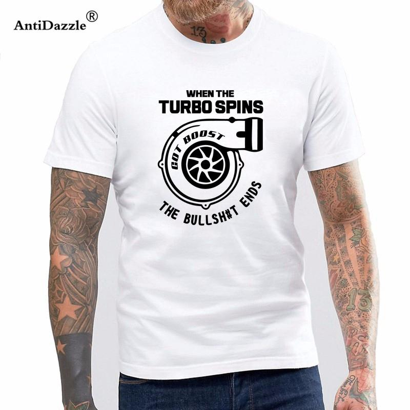 c459832a2f377 Antidazzle 2017 100 Cotton Mens Cool O Neck T Shirt Turbocharger Tee Shirt