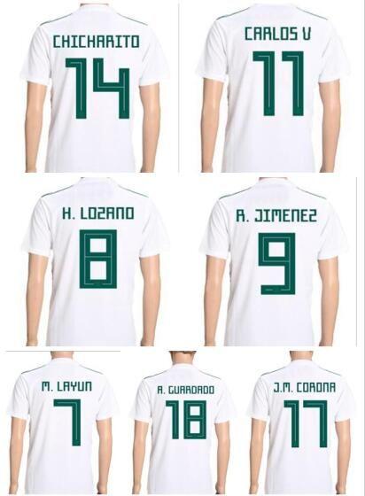 2019 Custom Mexico 18 19 Number Thai Quality Soccer Jerseys Shirts Tops 6383b84b1