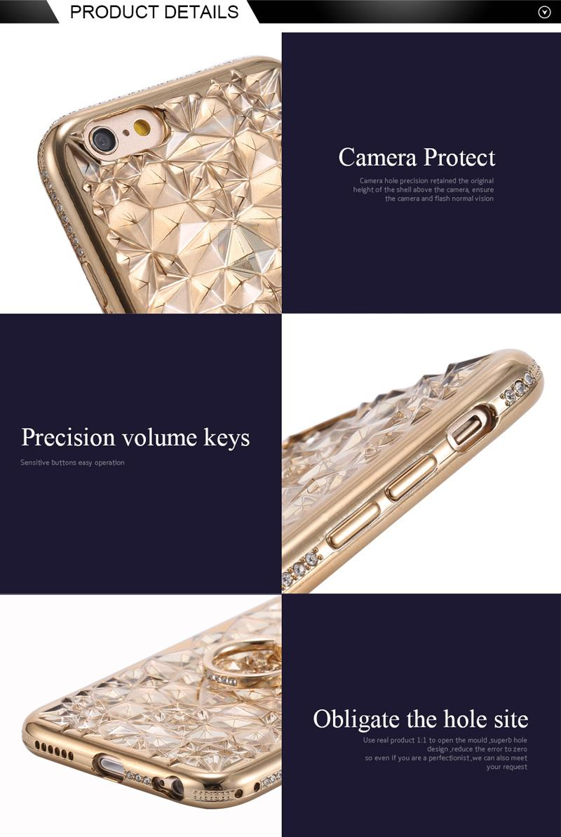 Glitter Diamond Flower Soft Plating TPU Ring Stand Case For iPhone XR XS MAX X 8 7 6 Samsung S8 S9 Plus S10 S10E Note 9 J4 J6 J8 A6 A8 2018