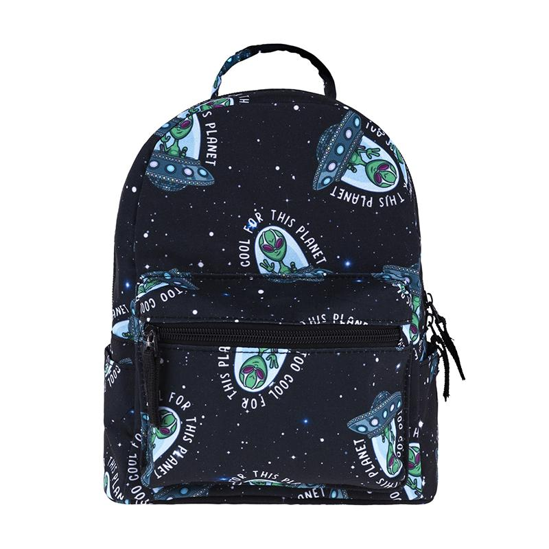 cf52ccac5b Small Backpack Cool Alien Pattern Mini Backpack For Kids Schoolbag Fashion  Cute Boy Black Book Bags For School Women Travel Bag Kelty Backpack Camo  Backpack ...