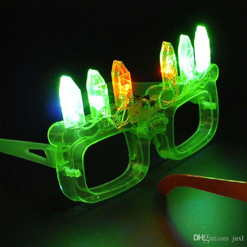 Birthday Candle Cake Glasses Light LED Flashing Blinking adult kid Eye Glasse Party Cosplay Costume Accessories