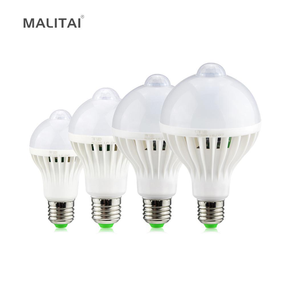 Allée Ampoule Sensor Nuit Led W Ir Smart Pour 7 Balcon V Éclairage Induction Escaliers 9 5 Lumière E27 Motion Corridor Lampe 12 220 wiXZTOlPku