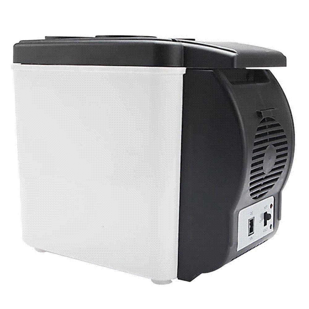 12V 6L Capacity Portable Car Refrigerator Warming and Cooling Truck  Electric Fridge for Travel RV Boat Car And Home Use