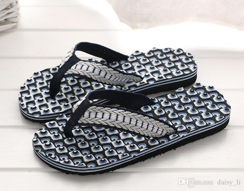 Unisex Flip Flops Slipper Men Slippers Summer Massage Sole Flat Heel Sandals Women Home Shoes #33