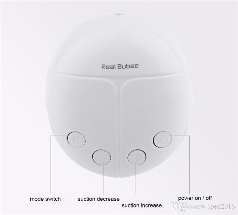 Real Bubee Double Electric Breast Pump With Milk Bottle Convenient USB PP BPA free Powerful Breast Pumps Baby Breast Feeding New