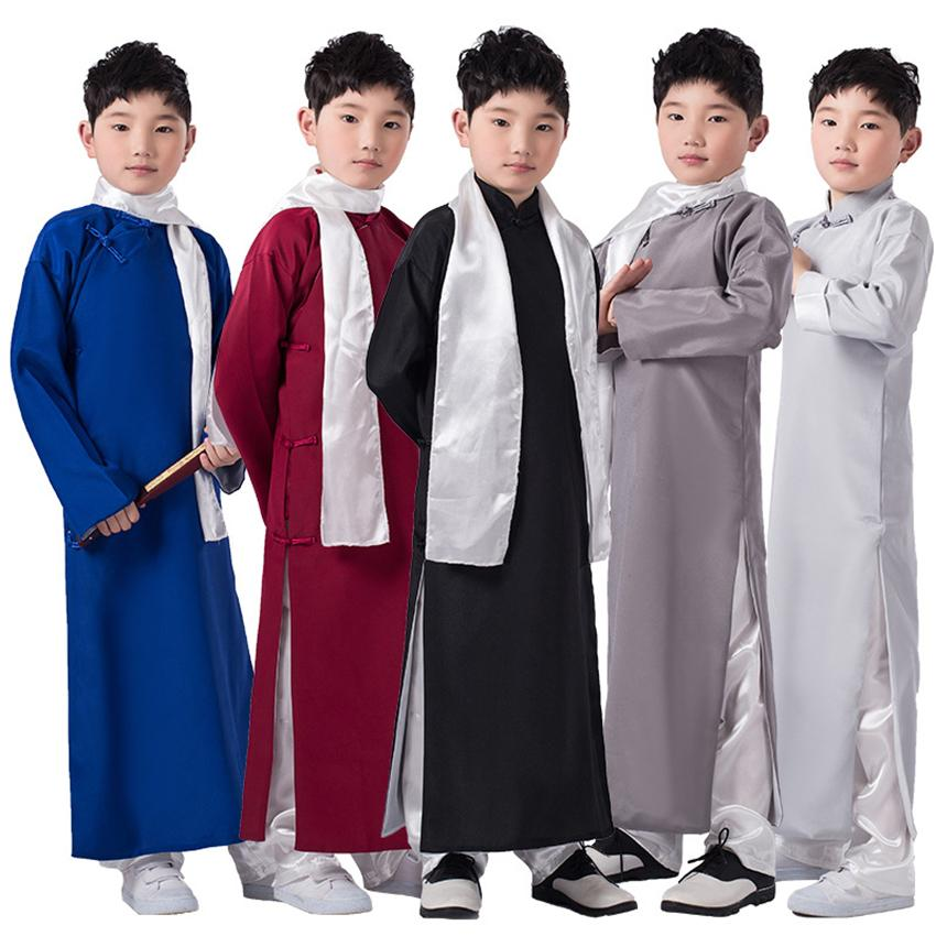 Compre Vestido Chino Boys Tang Traje Ropa Tradicional Long Robes Shirt  Niños Cheongsam Kids Año Nuevo Traje Para Niño Ropa A  25.85 Del Ziron  7fcd0c52d6816