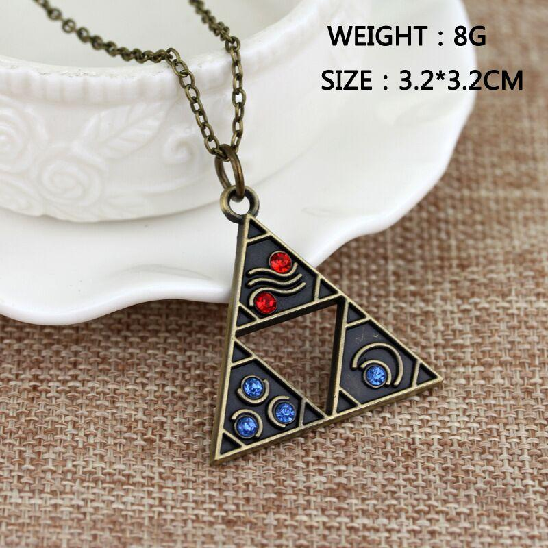 Trendy bronze children A Link to the Past Triforce Necklace The Legend of Zelda Necklace hollow triangle Pendant Necklace 2018 x463