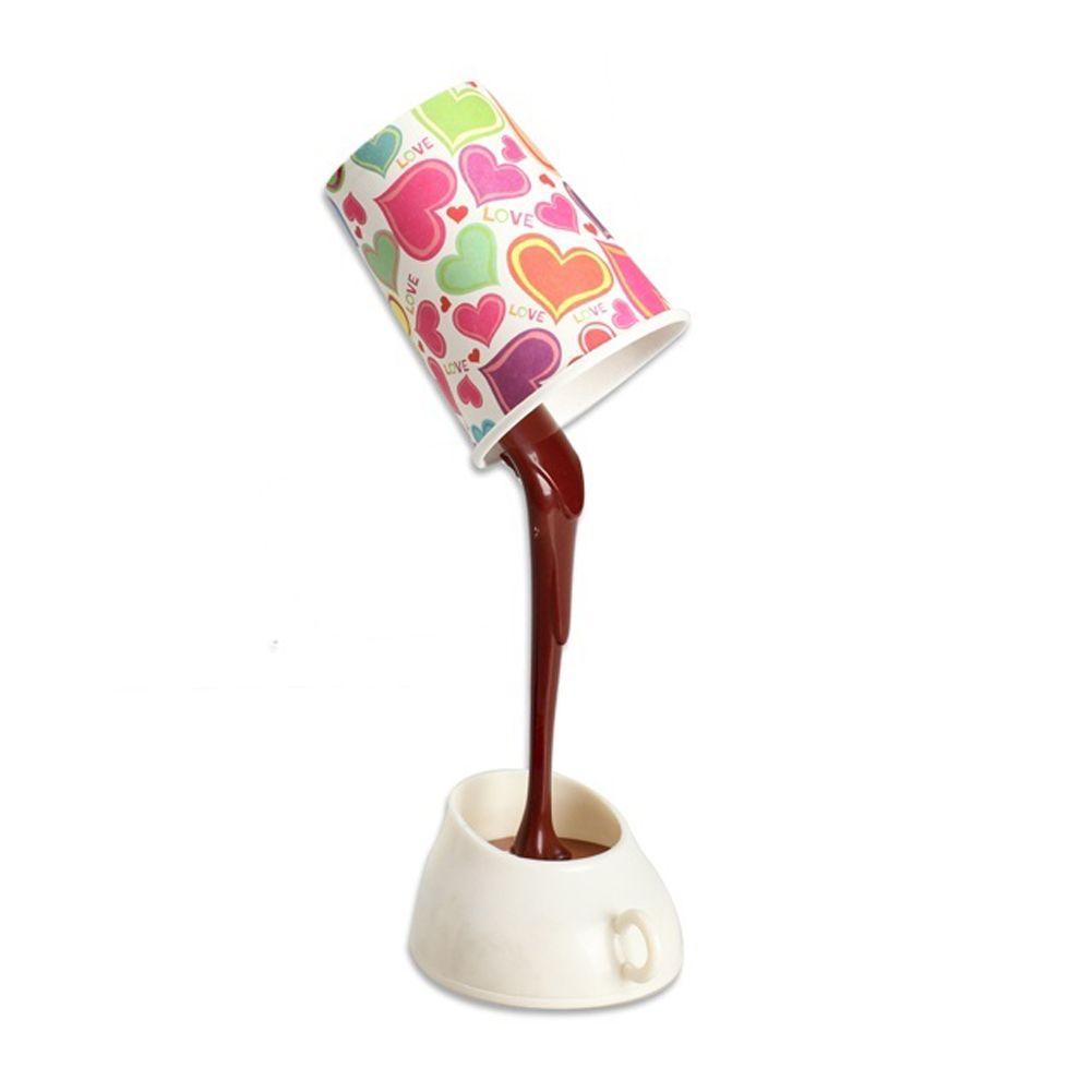 Nuovo LED Night Light Coffee Pour Lampada con batteria USB DIY Lampada da tavolo Protezione degli occhi Lampada da tavolo Commercio all'ingrosso