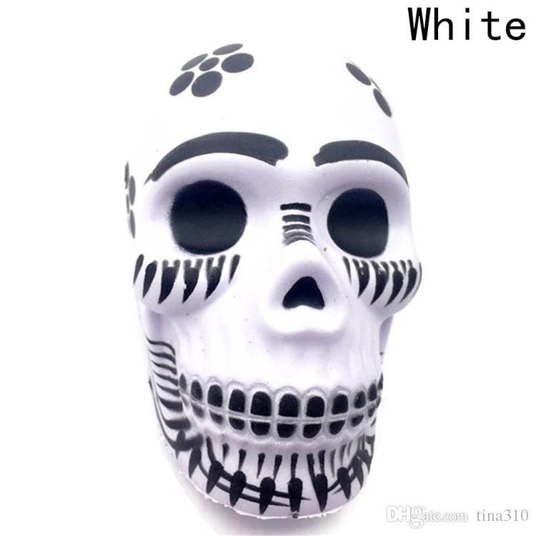 Slow rebound Skeleton head toy April Fools' Day Prank toy decompression toys Home Decoration Kid Gift T3I0159