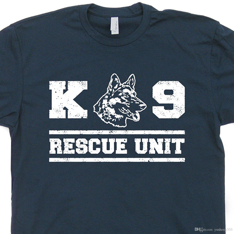 K9 T Shirt Designs   K9 Rescue Dog T Shirt Military Unit Police Handler Fireman German