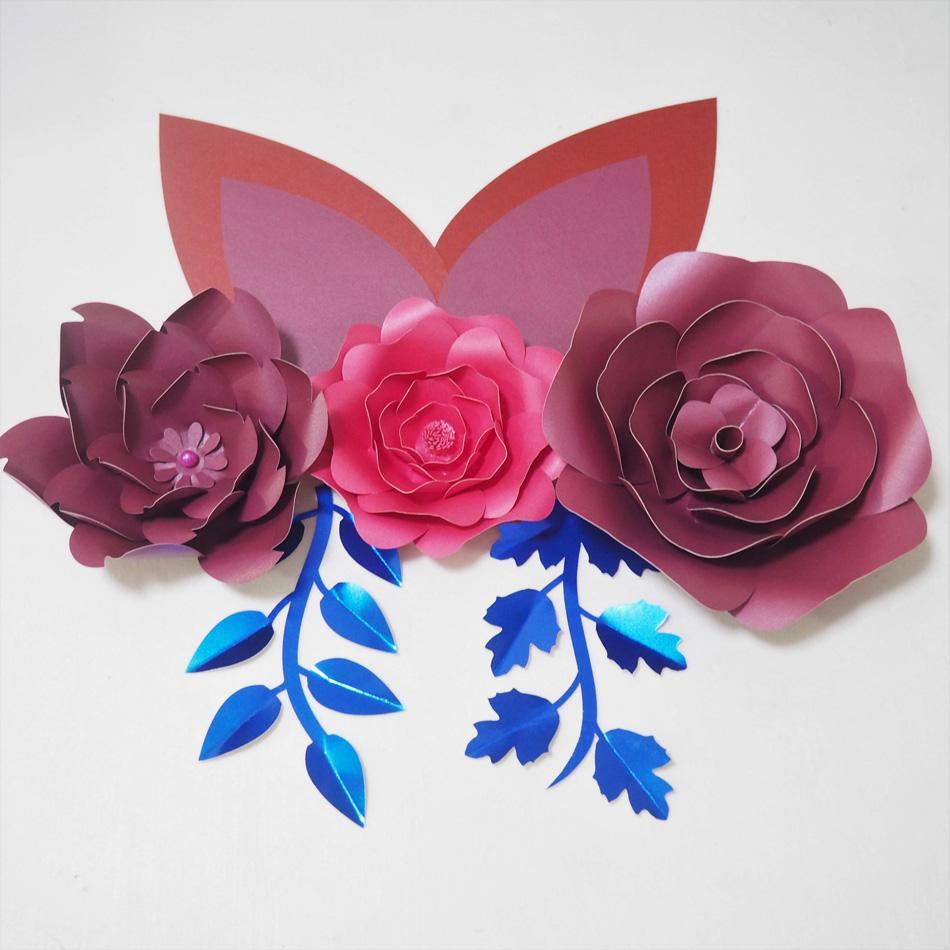 2018 Diy Giant Paper Flowers Craft Supplies Artificial Rose Fleurs