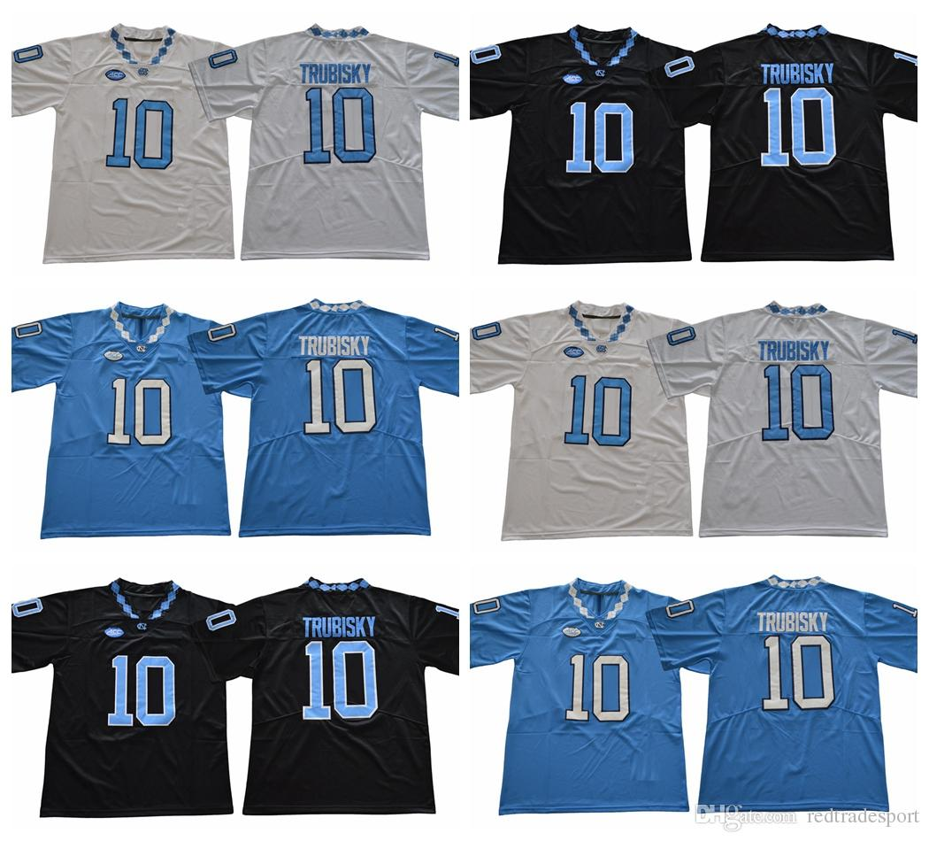 a00b5bd5562 2019 2018 North Carolina Tar Heels Mitchell Trubisky College Football  Jerseys Cheap #10 Mitchell Trubisky University Stitched Football Shirts  From ...