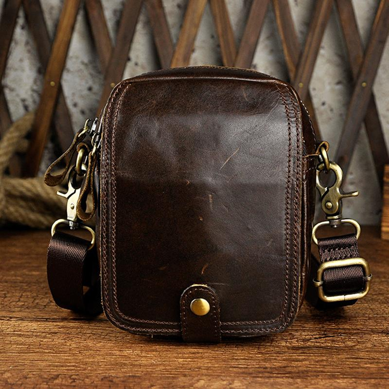 fd1febe8d169 Men Vintage Genuine Leather Waist Pack Bag Bags Travel Male Hip Bum Belt  Purse Pouch Small Cross Body Shoulder Messenger Bags Bags For Sale Handbags  For ...