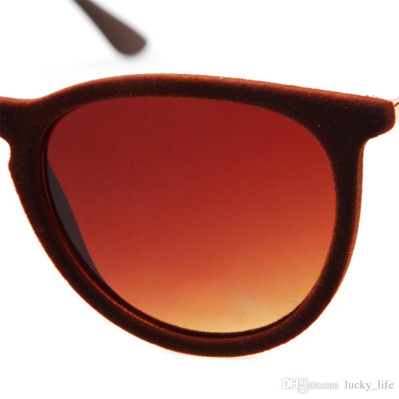 2018 alta calidad bajo precio marco de felpa gafas de sol de las mujeres de los hombres marca de fábrica marca Velet marco gafas de sol celebrity glasses 4171
