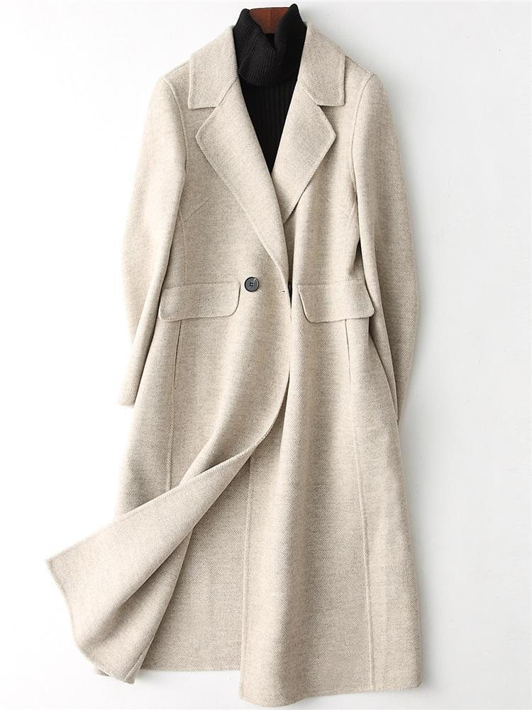 online retailer e1fe8 7493b KMETRAM Wintermantel Damen Wolle Zweireihig Damen Wolljacke Abrigo Mujer  2018 Chaquetas Para Mujer Vintage Langmantel MY163