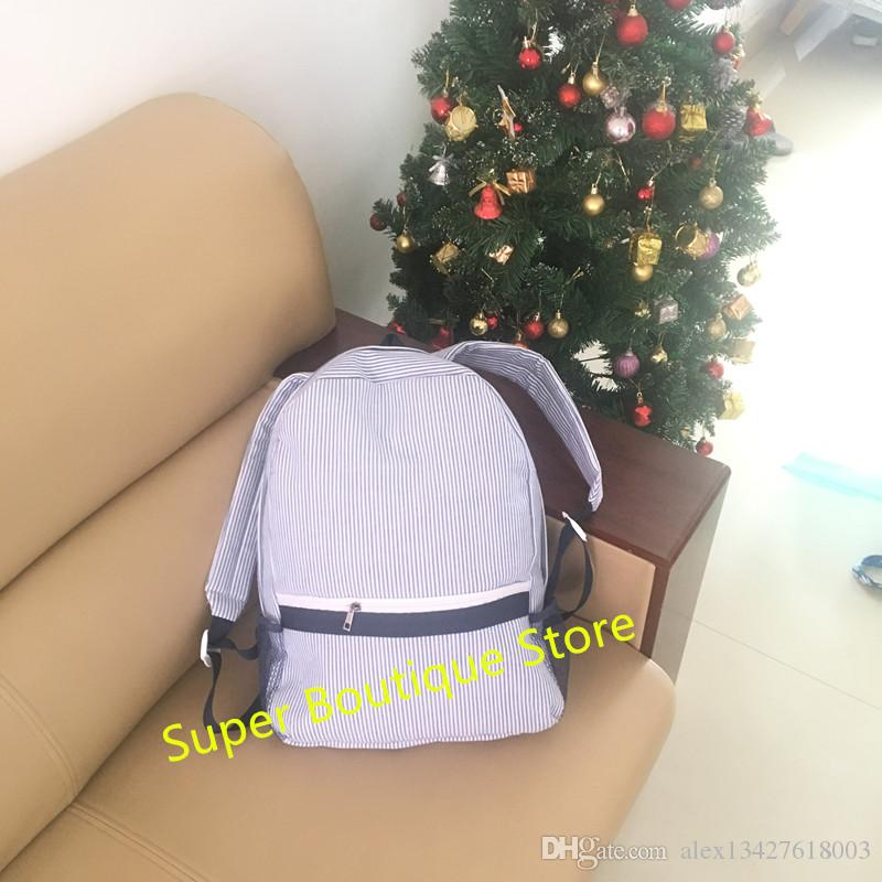 Wholesale Monogram Girls And Boys Personalized Seersucker Backpack For  Family Wonderful Presents UK 2019 From Alex13427618003 af04b8c274e9d