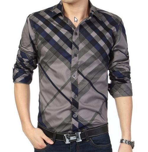 Slim Fit Overhemd.2019 2018 New Men Long Sleeve Slim Fit Shirt Overhemd Casual Social