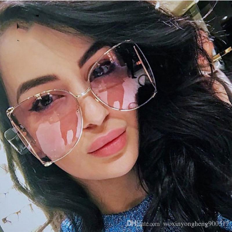 d6902209885 2018 Fashion Brand Cat Eye Women Sunglasses Pearl Decoration Legs Fashion  Square Sun Glasses Ladies Gradient Clear Shades UV400 Designer Sunglasses  ...