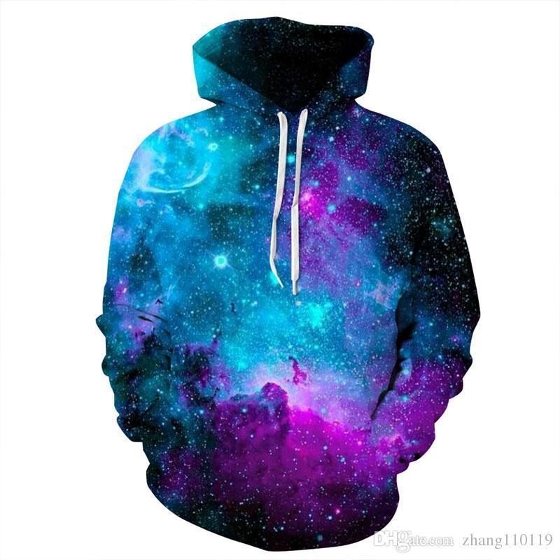 2a1c223a252 Hip Hop Space Galaxy Hoodies Hooded Men Women Hat 3d Sweatshirts ...