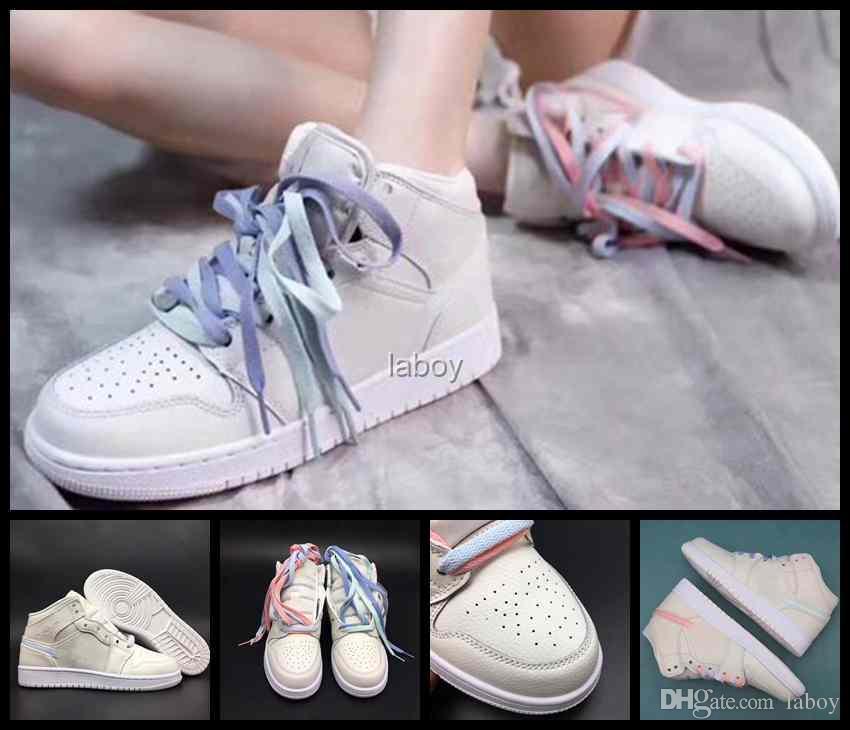 678a1807520 2018 New 1 1s Ret High Women Basketball Shoes Designer Pink Blue ...