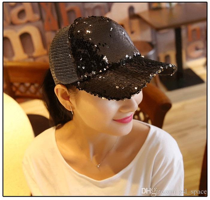 Moda ajustable Simple gorra de béisbol Verano Deportes al aire libre lentejuelas Sombrero de sol Viajes de ocio Senderismo Sombrero de béisbol parejas Al por mayor