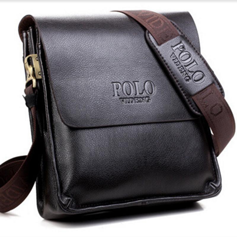 13e0283dc9e POLO Men Shoulder Bags Famous Brand Casual Business PU Leather Mens  Messenger Bag Vintage Men S Crossbody Bag Bolsa Male Handbag Black Leather  Handbags ...