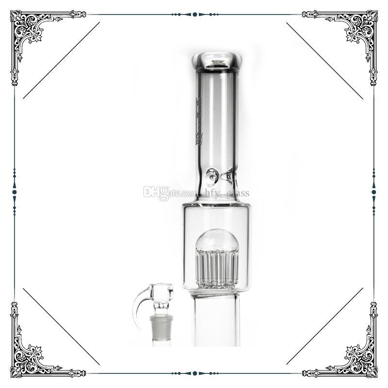 2015 neue Souveränität Stamm 12 12 Arm Percolator und aufgerutscht 18mm Glasbongs Gitter Große Bongs Wasserleitung klar High 18 Zoll Kostenloser Versand