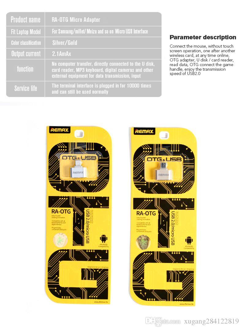 NEW REMAX Micro USB OTG Adapter Female USB2.0 to micro USB male Data Adapter Travel Converter flash drive for Samsung Xiaomi LG