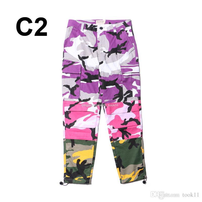 Compre Patchwork Moda Hombres Mujeres Joggers Pantalones De Camuflaje Camo  Pantalones De Estilo Militar Pantalones Sueltos Hip Hop Streetwear Street  Wear ... b22d4c4a08c8