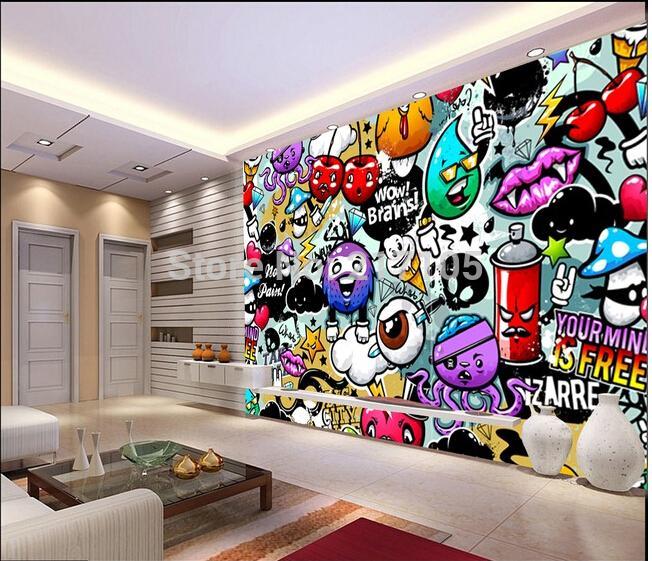 Großhandel Wholesale Custom Baby Tapete Bunten Graffiti 3d Wallpaper ...