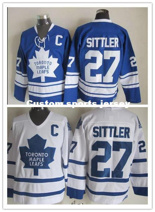 best service cd2f1 38803 Cheap custom DARRYL SITTLER MENS WHITE CCM JERSEYS NEW TORONTO MAPLE LEAFS  Mens Personalized Any name number stitching jerseys XS-6XL