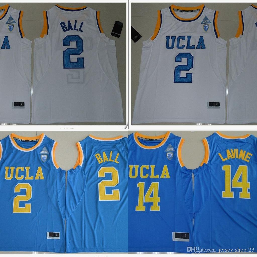 3707d3bf147 2019 UCLA Bruins  2 Lonzo Ball 14 Zach LaVine PAC 12 Mens American College  Stitched Embroidery Basketball Uniforms Shirts Sports Team Pro Jerseys From  ...