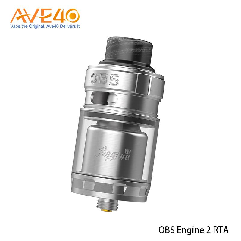Authentic OBS Engine 2 RTA 5ml Tank Outside Diameter 26mm with 810 Drip tip Super Dual Coil RTA without Leakage Two Posts Build Deck Tank