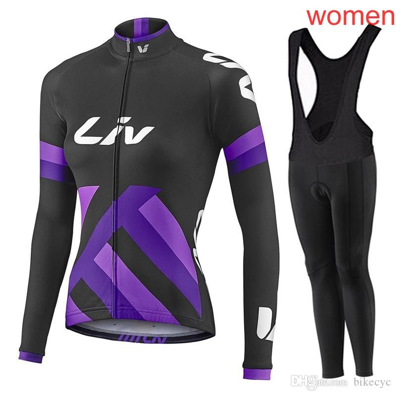 LIV Team Cycling Long Sleeves JerseyBibPants Sets 2018 New Breathable  Fashion Clothes Bicycle 3d Gel Pad Women Ropa Ciclismo C2032 Cycling  Clothes Padded ... 5942bcfe0