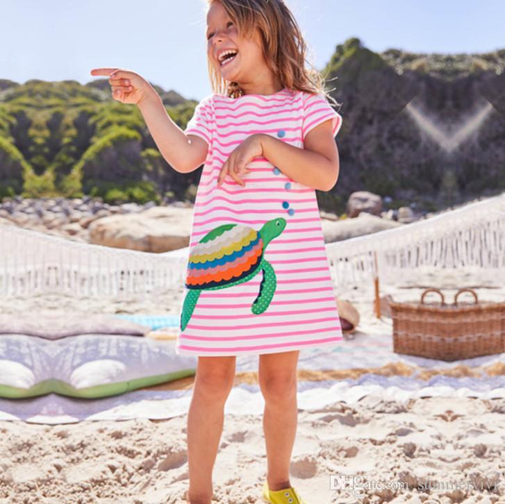 Дети блестки звезды принцессы платья девушки русалка черепаховые полосы с коротким рукавом платье детские стерео цветы аппликация собака платье A-line Y1032