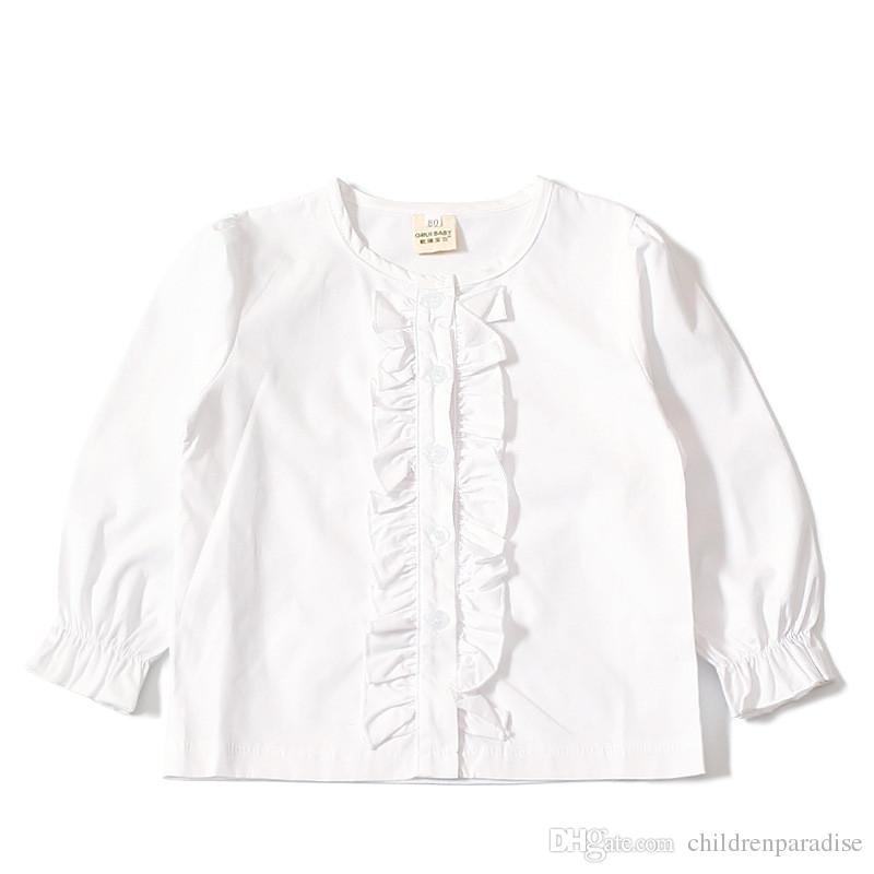 Shirts Für Mädchen Baumwolle Casual Kinder Kleidung Weiße Mädchen Blusen Langarm Mädchen Shirts Herbst Frühling Kinder Kleidung Mädchen Mutter & Kinder Blusen & Hemden