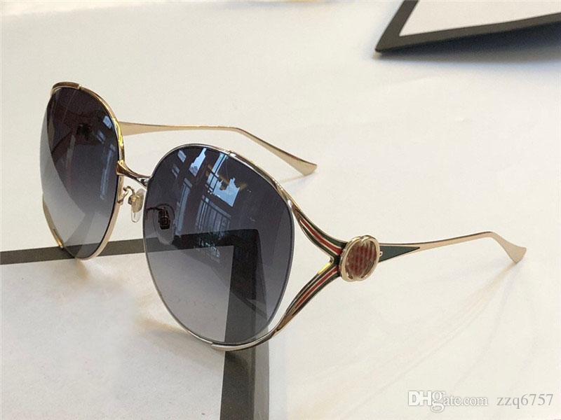 fe1244d54 Compre O Mais Recente Estilo Mulheres Óculos De Sol Clássico Placa De Metal  Espelho De Metal Pernas Designer De Moda Popular Óculos De Proteção Óculos  ...
