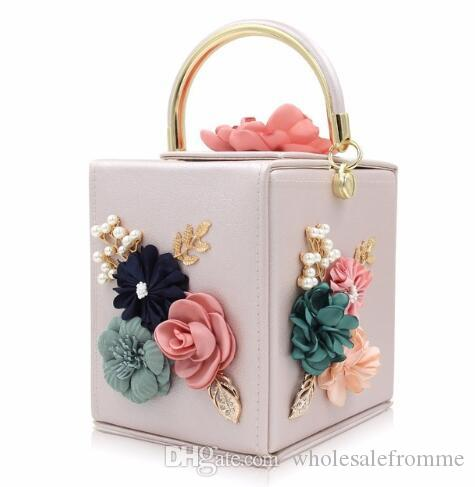 930a89db5fa Women Evening Bag Ladies Flower Wedding Clutches Female Pink Black Clutch  Purse Online with  31.14 Piece on Wholesalefromme s Store