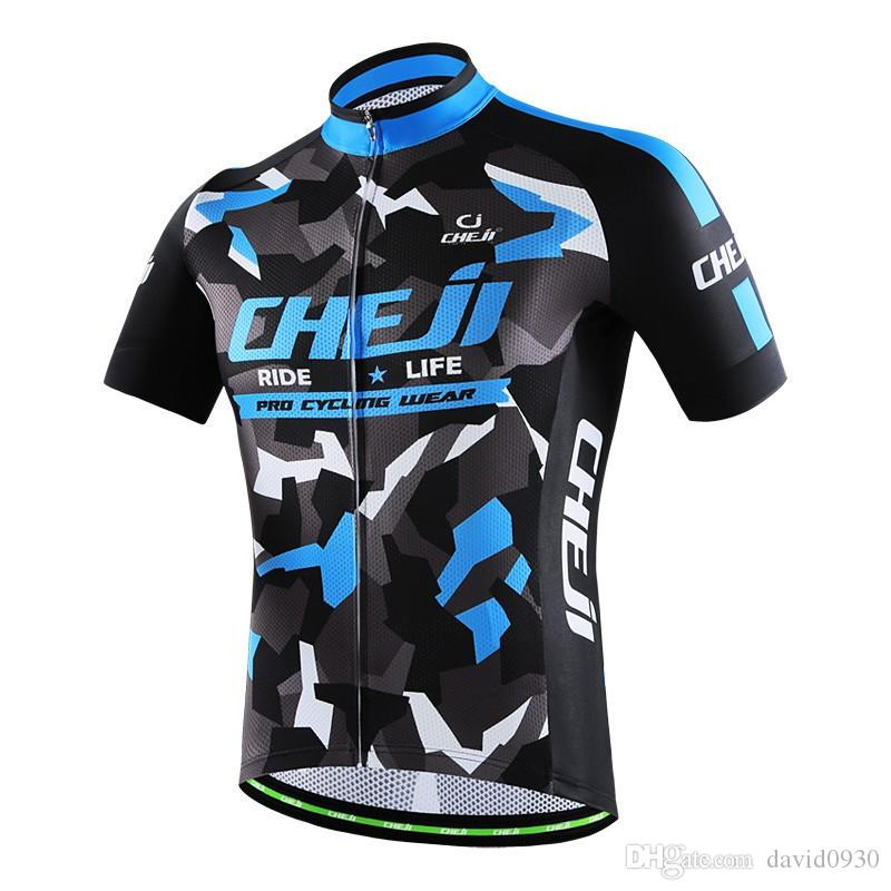 2018 Cheji Cycling Bike Jersey Ropa Ciclismo Team Racing Short Sleeve Mtb  Bicycle Cycling Clothing Maillot Bike Jersey Clothes Bike Wear Cycling  Shorts Men ... e68678a47
