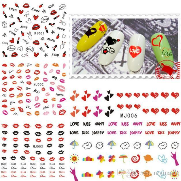New Japanese Nail Art 3d Stickers Cartoon Stickers Decals Water ...