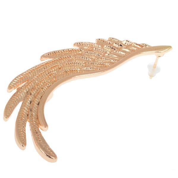 Moda alta qualità punk oro angelo ala orecchio polsino clip le donne orecchini gioielli