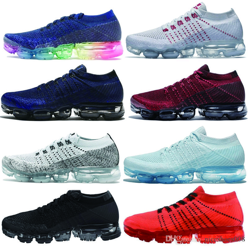 buy online 9b243 8e1c7 Nike Air Max Vapormax Air Cushion Shoes 2018 Mens Air Running Shoes Zafiro  Nuevo Estilo Mujeres Zapatos Deportivos Womens Shoes Sneakers Athletic  Trainers ...