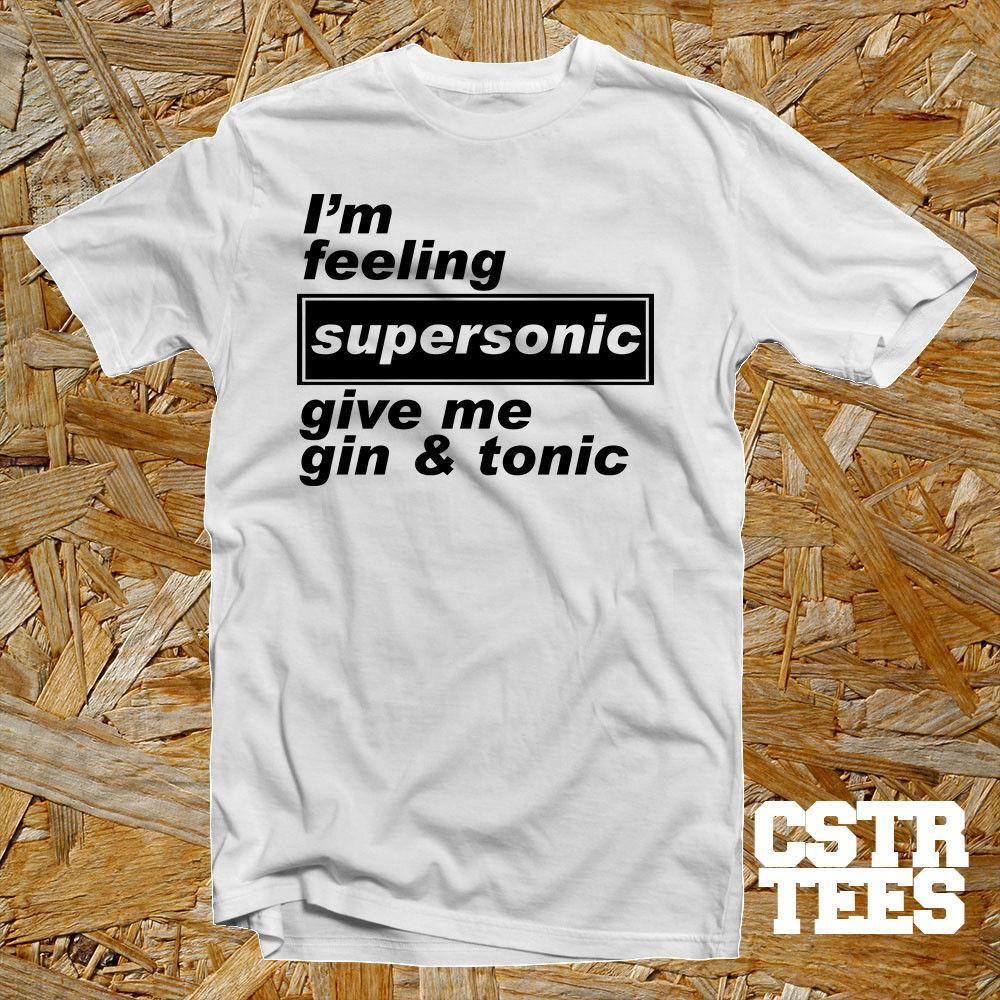 Oasis inspired song lyric Supersonic cool funny T shirt music britpop noel  liam Funny free shipping Unisex Casual gift