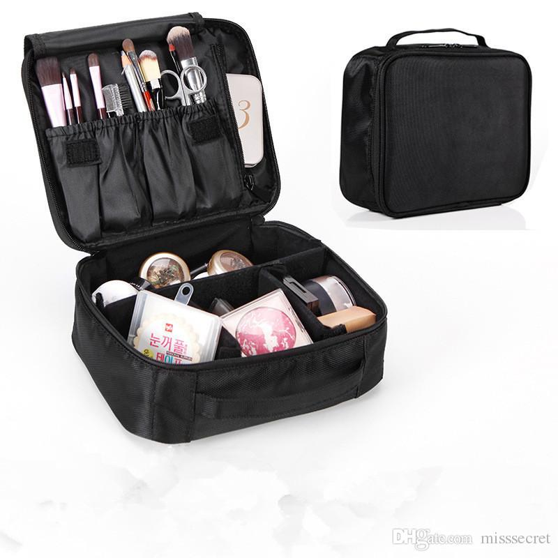 440bdf5895 New Double Layer Makeup Bags Portable Waterproof Travel Cosmetic Organizer Nylon  Zipper Large Capacity Cosmetic Bags Drop Shipping Available Face Products  ...