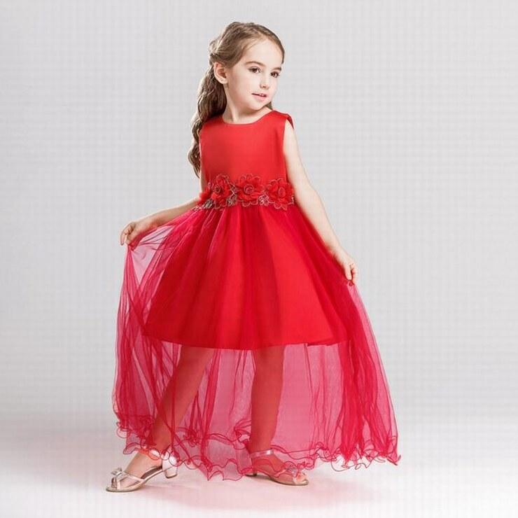 Charming Pageant Flower Girl Dresses Red Princess Ball Gown Brithday ...